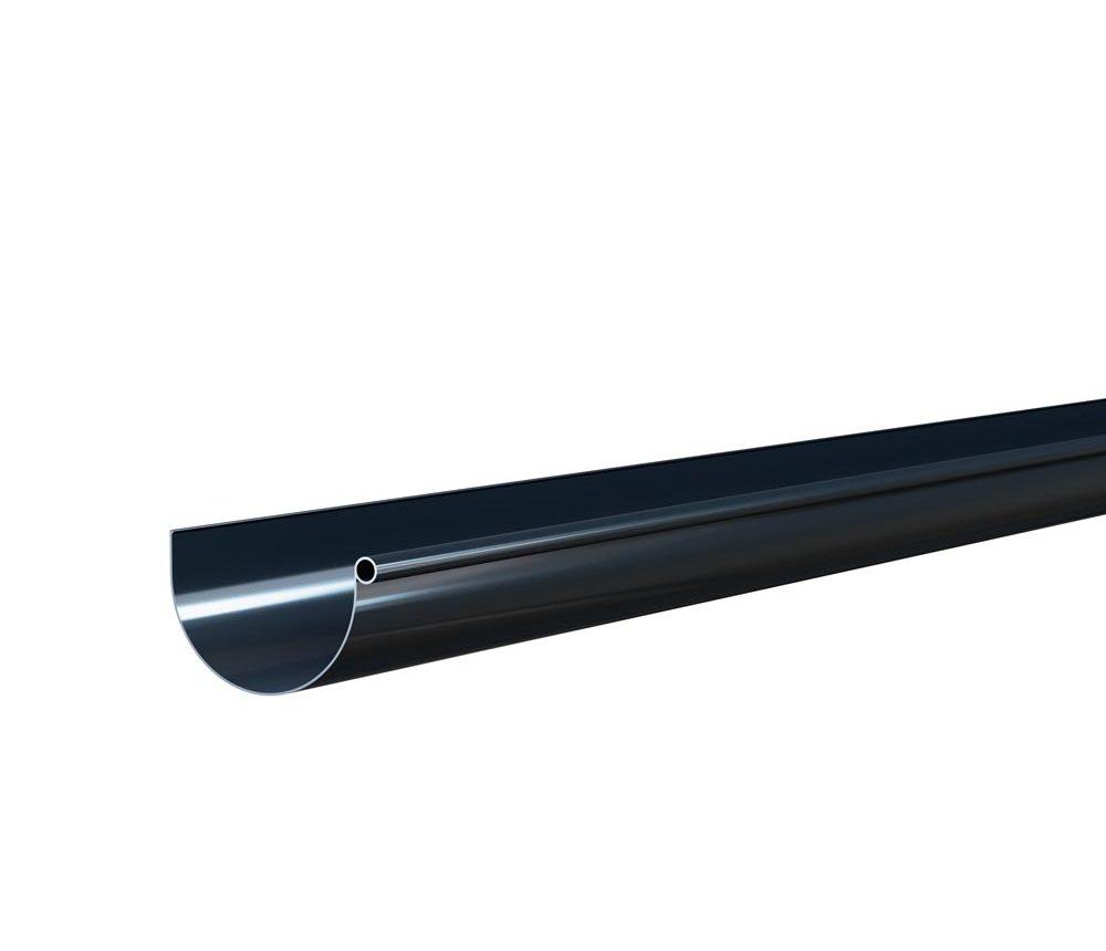 Gouttière demi ronde de 25cm - Longueur 4m - Anthracite