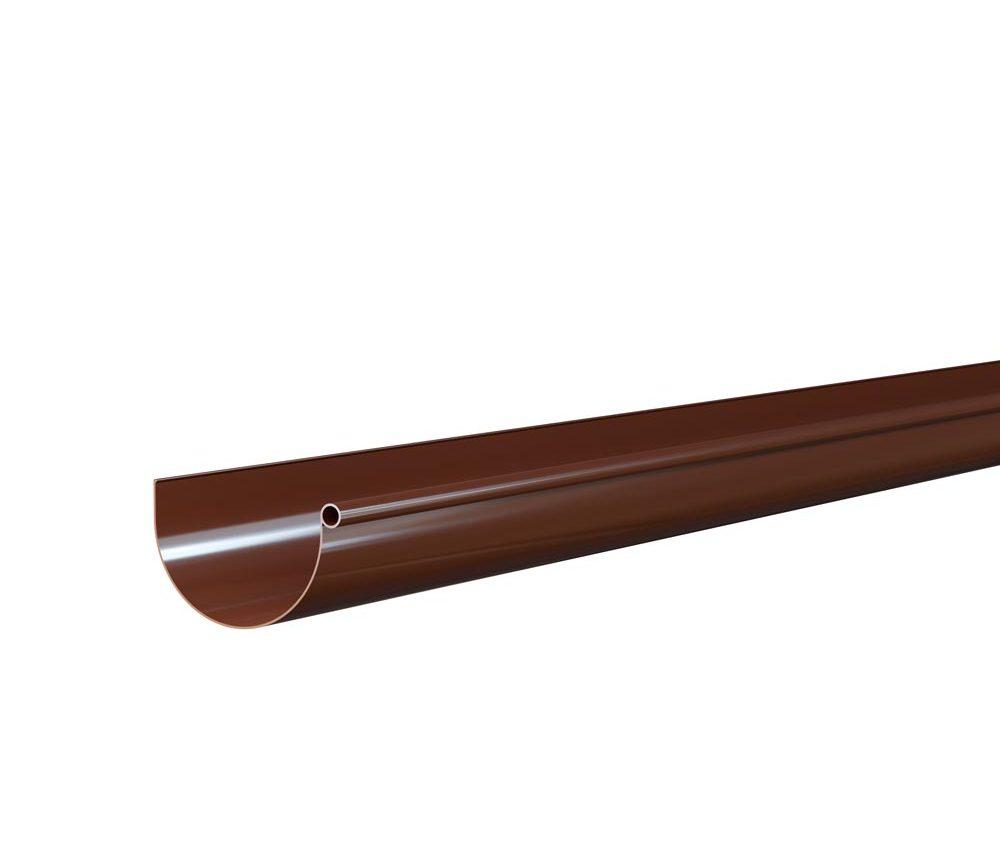 Gouttière demi ronde de 25cm - Longueur 4m - Marron