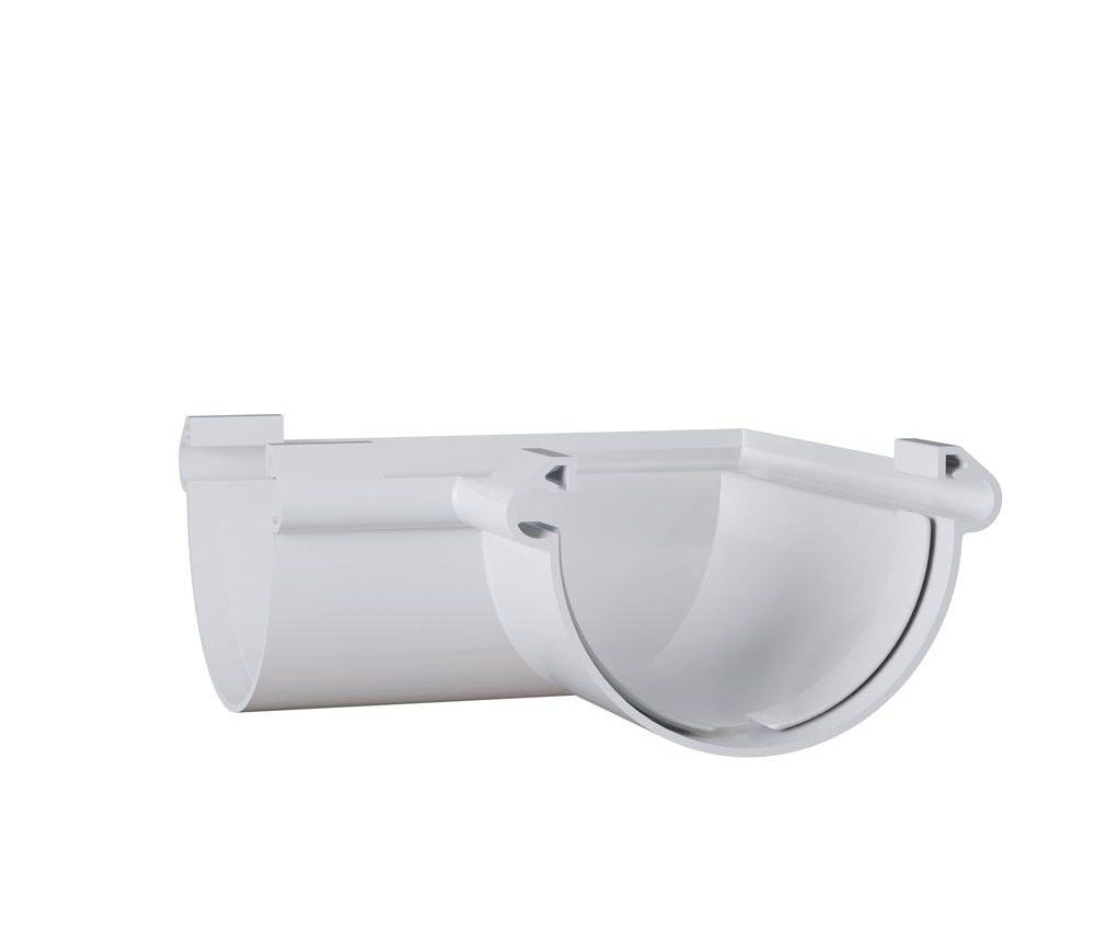 Angle int / ext 90° à coller - Demi ronde 33cm - Blanc