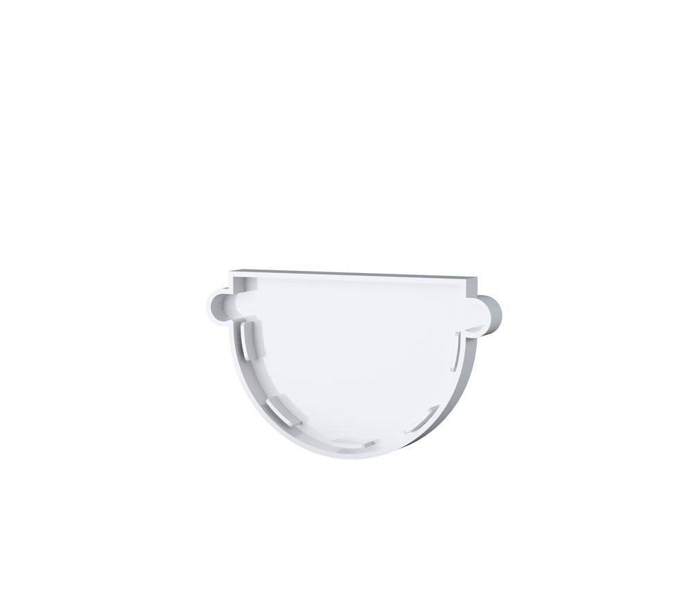 Fond de gouttière universel - Demi ronde 33cm - Blanc