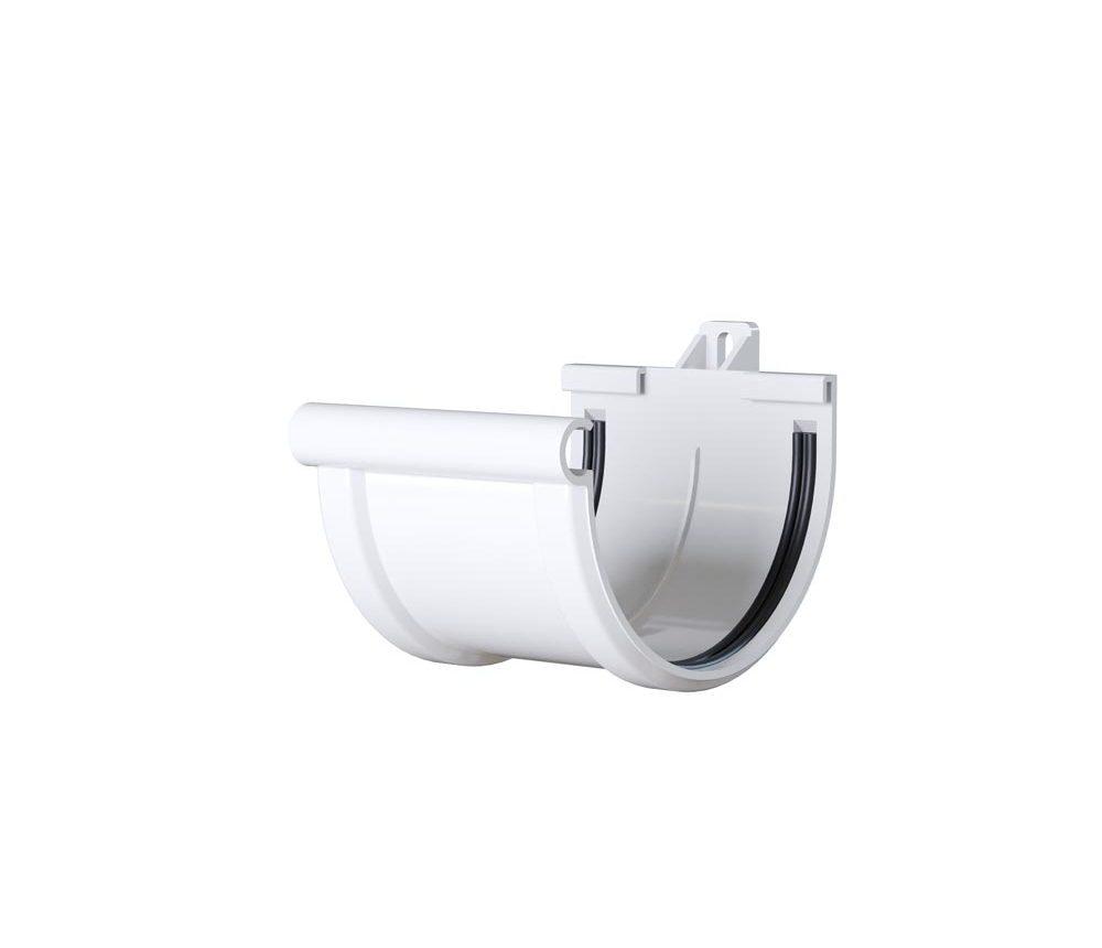Jonction à dilatation à joint - Demi ronde 33cm - Blanc