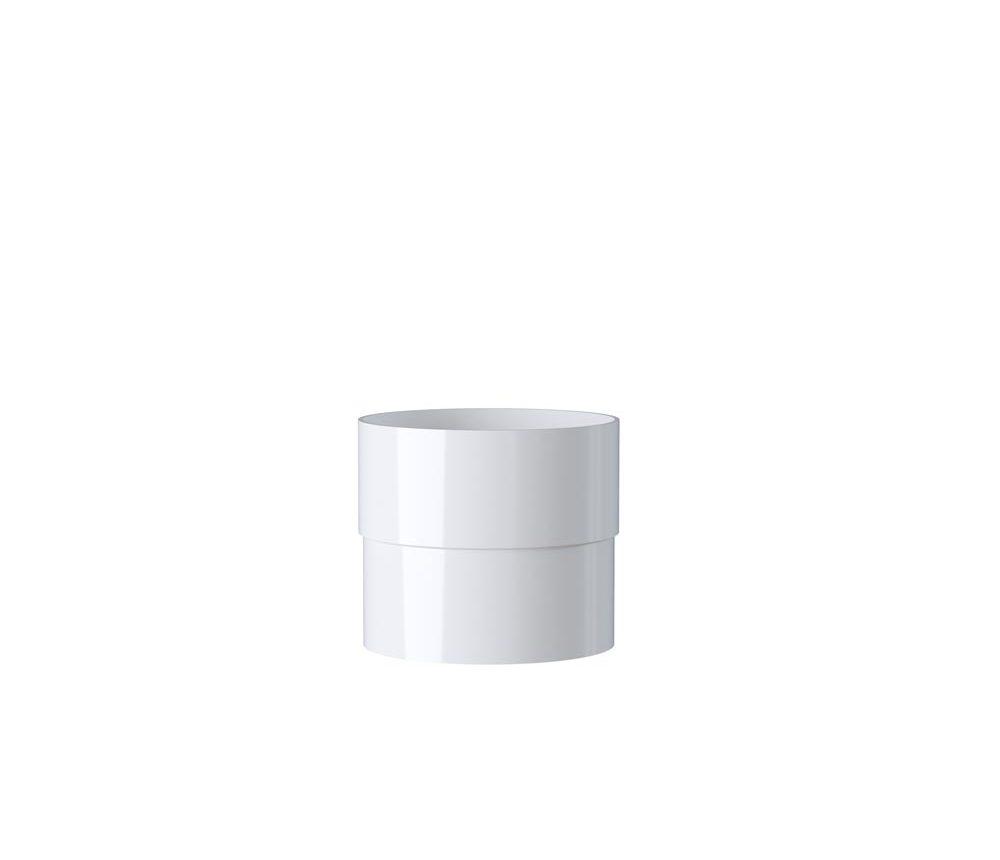 Manchon Mâle-femelle - 80mm - Blanc