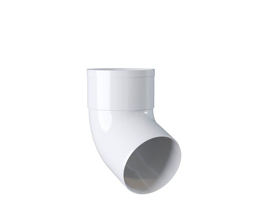 Coude mâle-femelle 67° - 80mm - Blanc