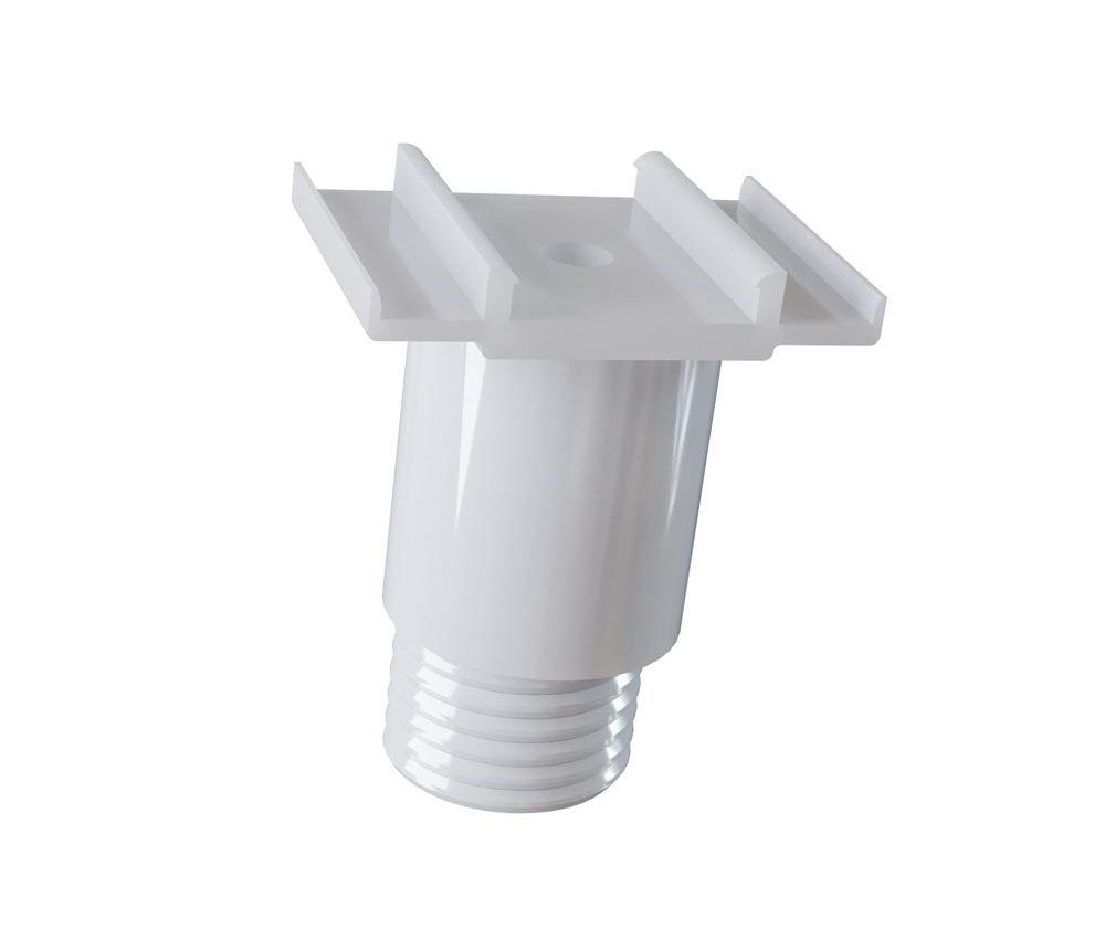 Clip PVC réglable universel et bouchon fileté