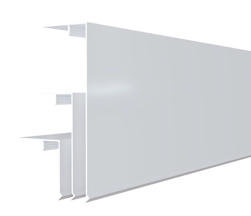 Couvercle d'angle 150/90/50x50mm en blanc