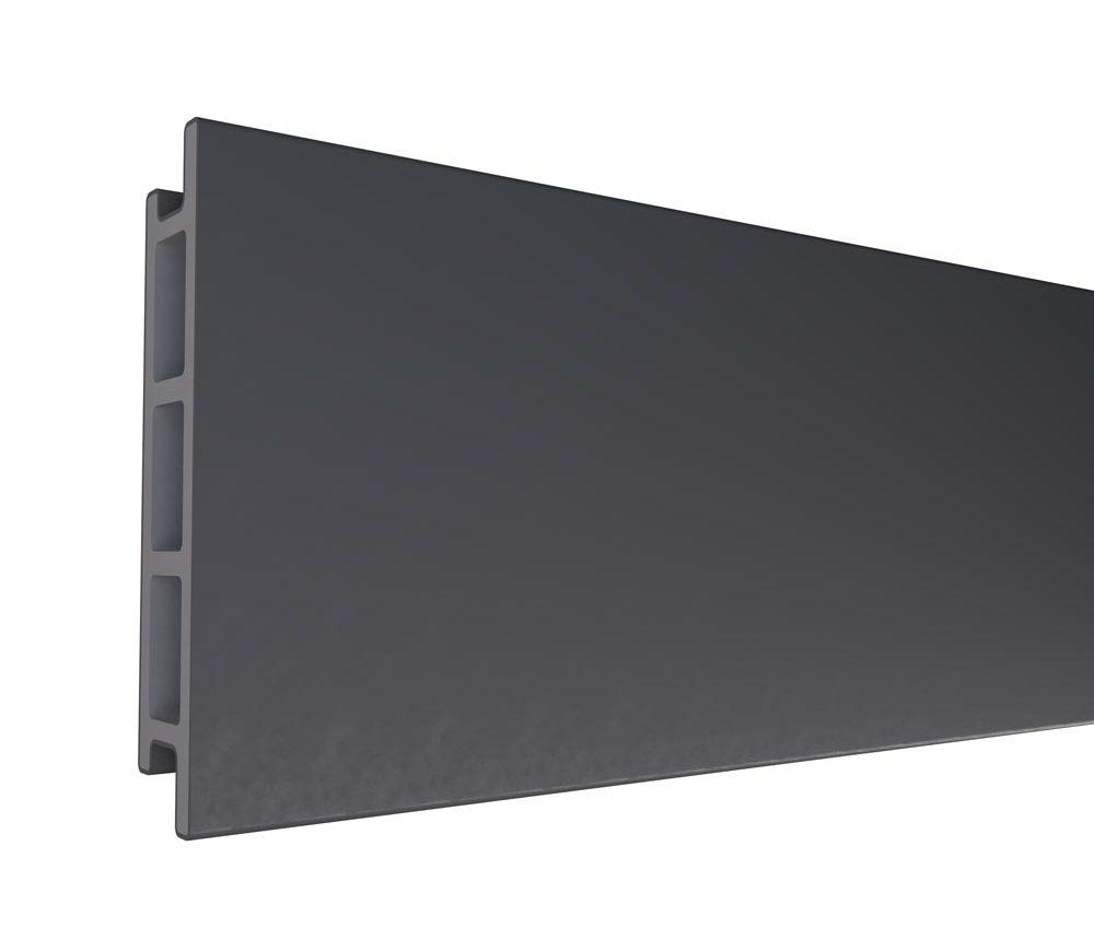 Planche de terrasse en polyéthylène de couleur Anthracite