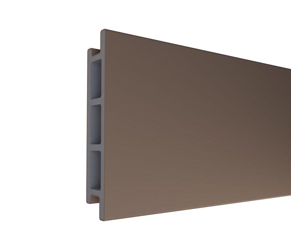 Planche de terrasse en polyéthylène de couleur Cannelle