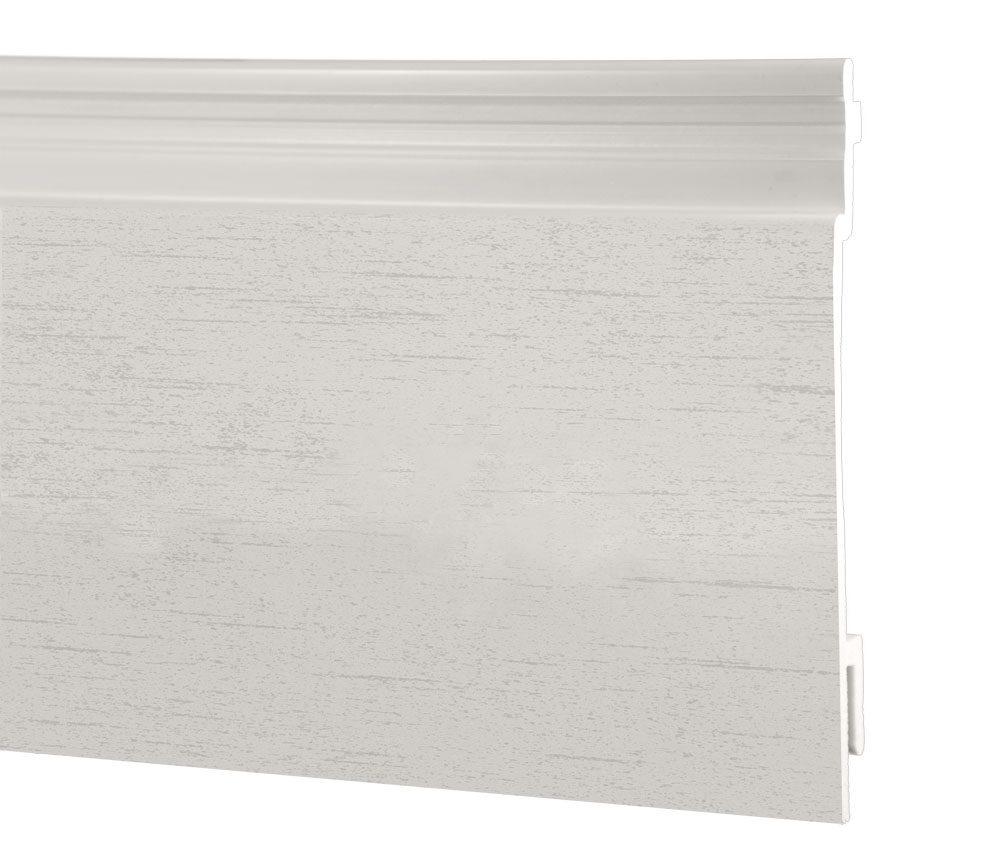 Lame de bardage PVC Isocel minéral en couleur blanc