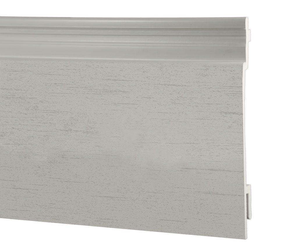 Lame de bardage PVC Isocel Minéral en couleur gris clair