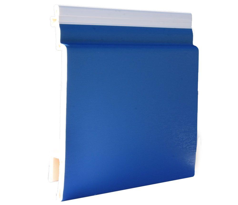 Lame de bardage PVC Isocel premium en couleur bleu front de mer