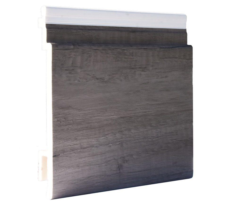 Lame de bardage PVC Isocel premium en couleur chêne grisé