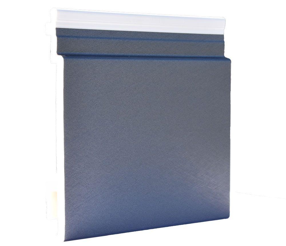 Lame de bardage PVC Isocel premium en couleur zinc anthracite