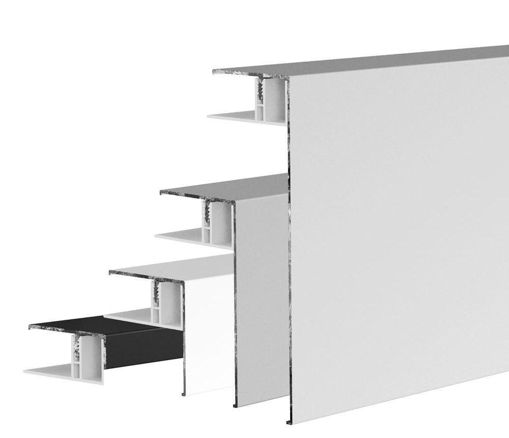 Couvercle d'angle & finition aluminium